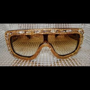Gold Embellished Fashion Shades.